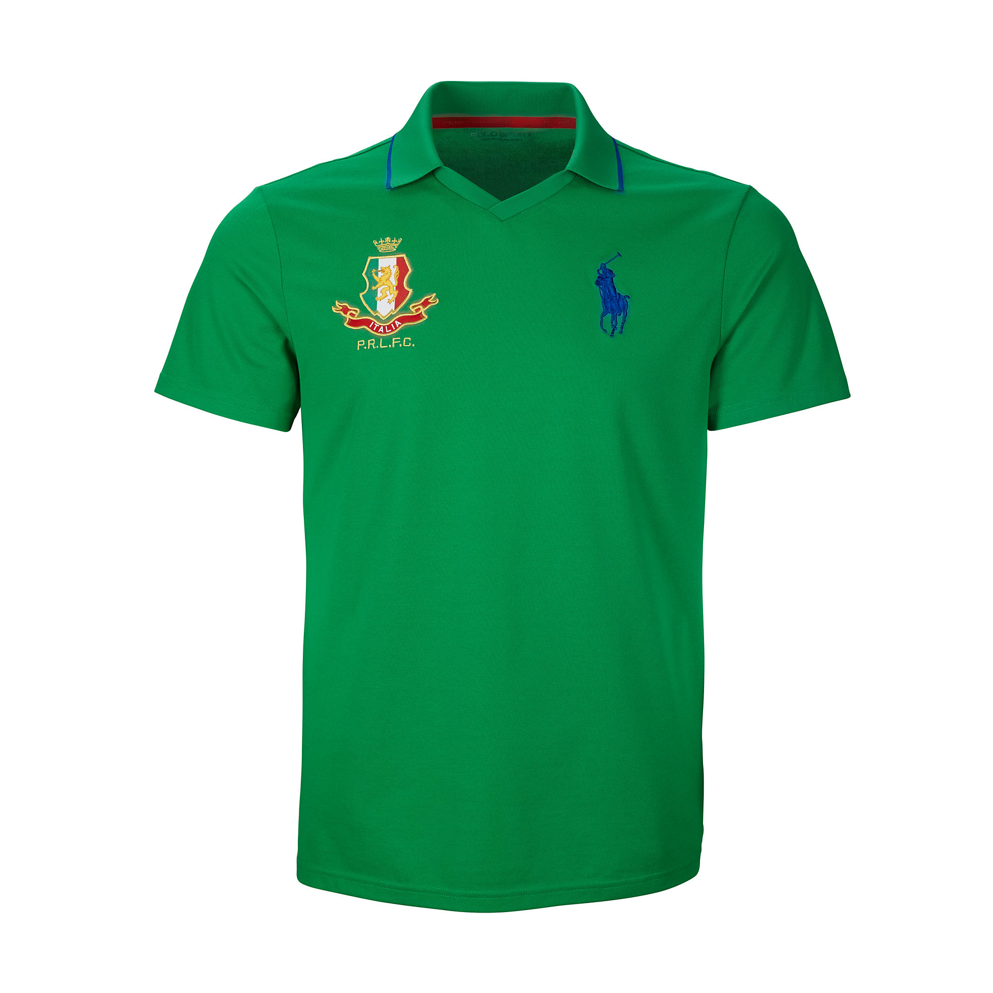 Lyst ralph lauren italy polo shirt in green for men for Green italy