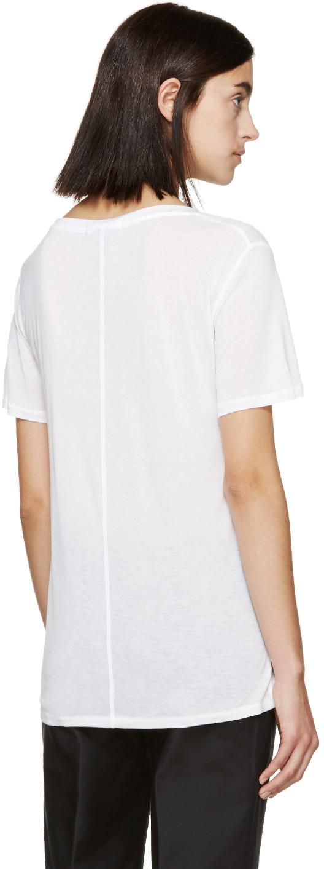 Rag bone white jersey concert t shirt in white lyst for Rag and bone white t shirt