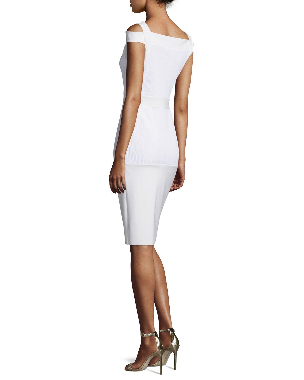 1bc44c50 La Petite Robe Di Chiara Boni Cold-shoulder Sheath Dress in White - Lyst