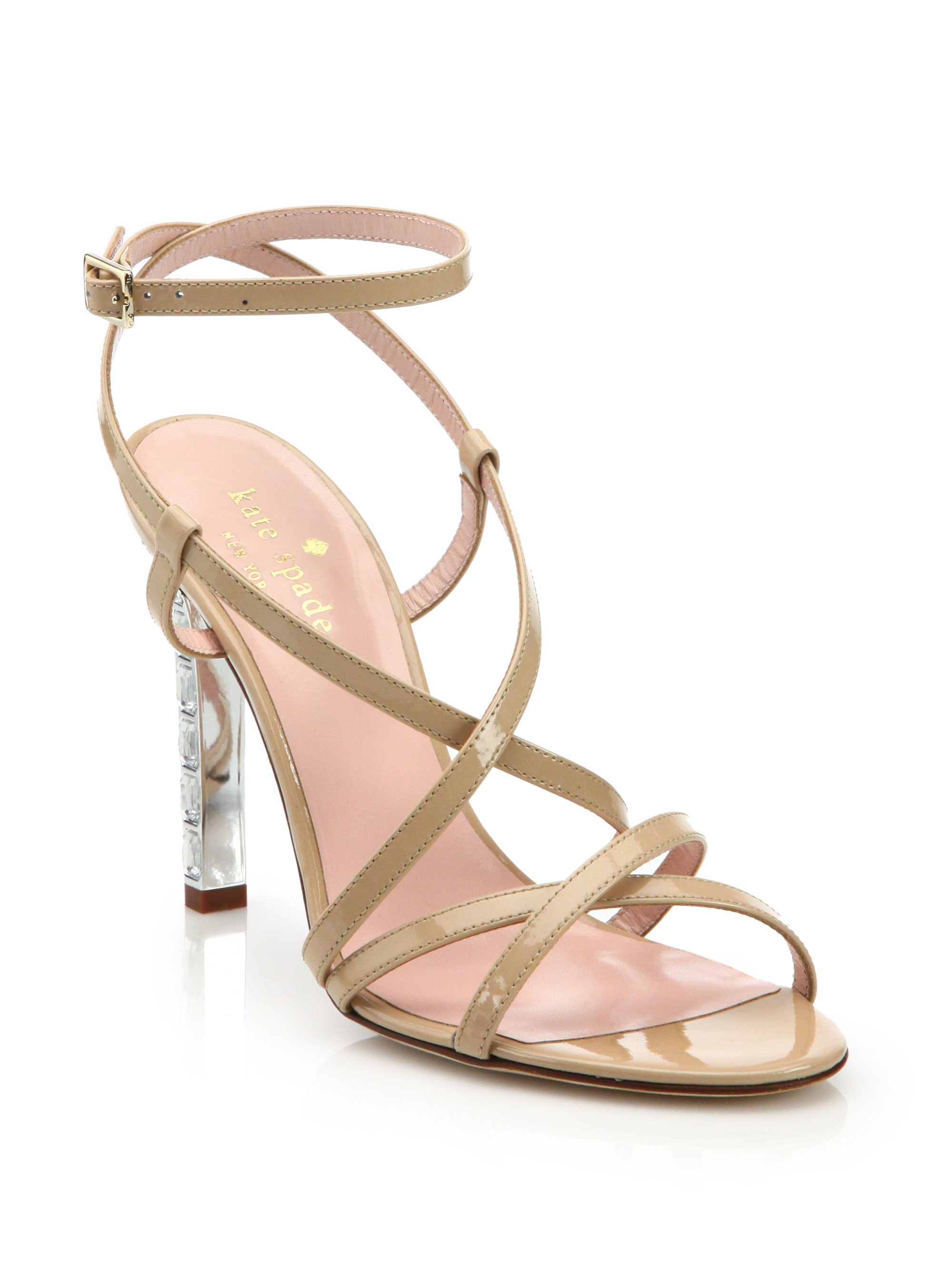 Kate Spade New York Patent Leather Multi-Strap Sandals outlet 2014 hwrXm13q