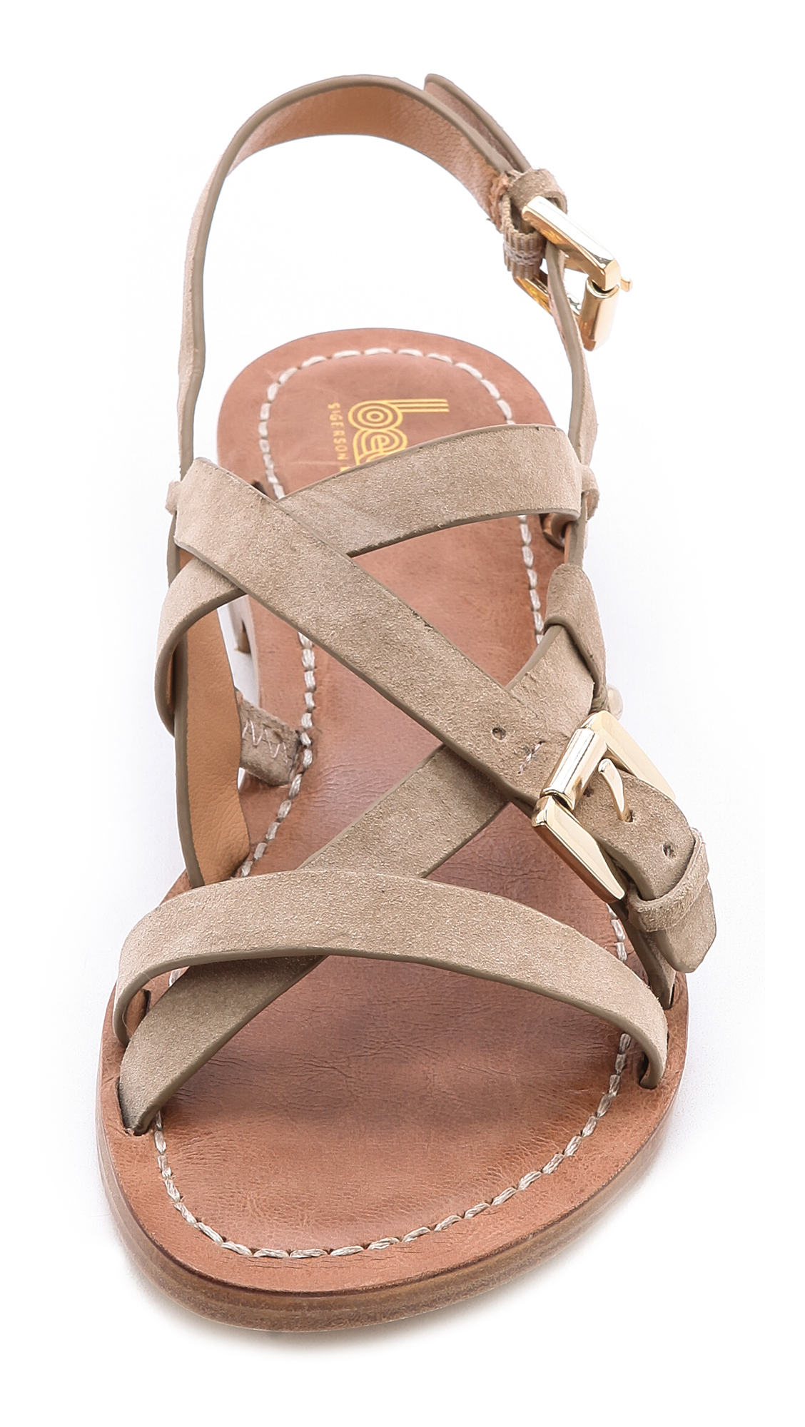 080819918cc8 Lyst - Belle By Sigerson Morrison Arson Suede Flat Sandals in Brown