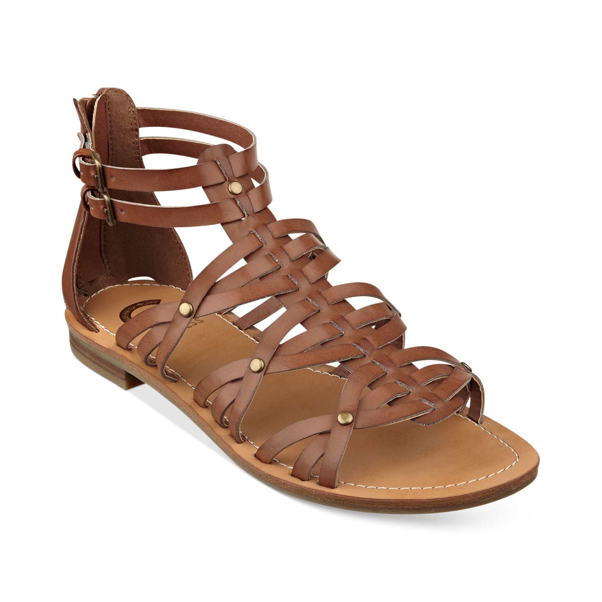 G By Guess Hendal Gladiator Sandals In Brown Lyst