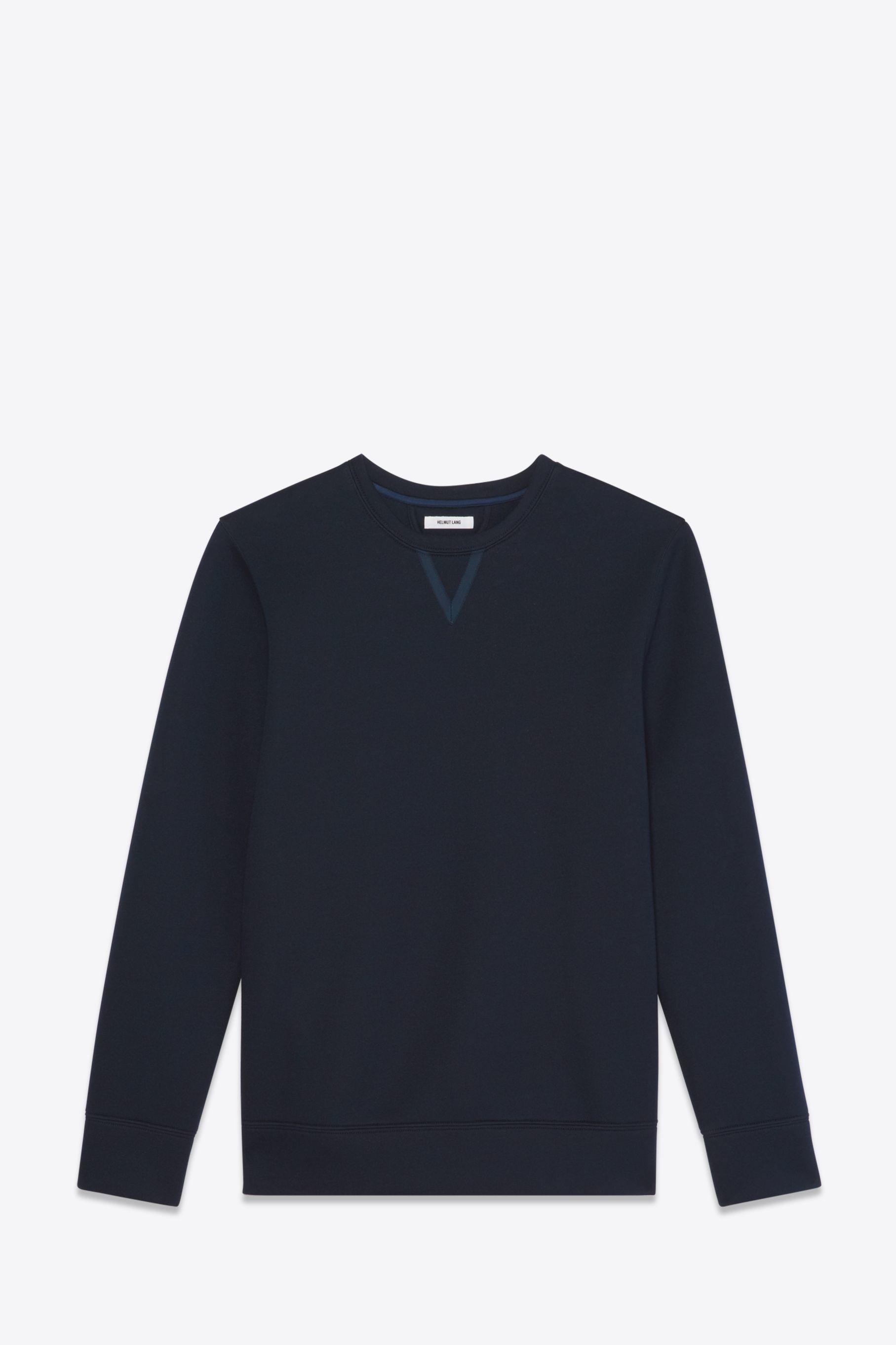 Helmut lang tape sweatshirt in blue for men lyst for Sweatshirt kleid lang