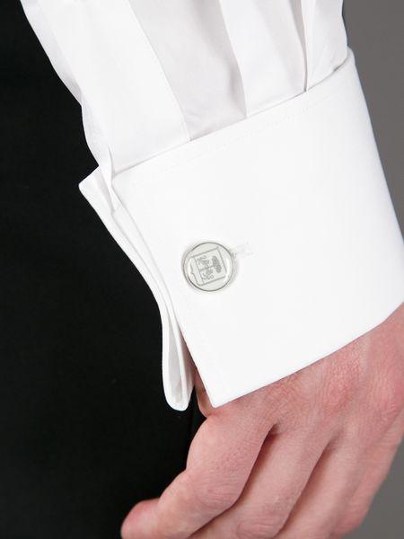 Corneliani french cuff shirt in white for men lyst for White french cuff shirt