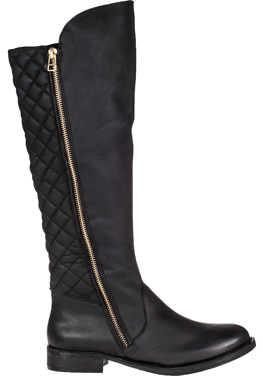 Steve Madden Northsde Tall Boot Black Leather Lyst