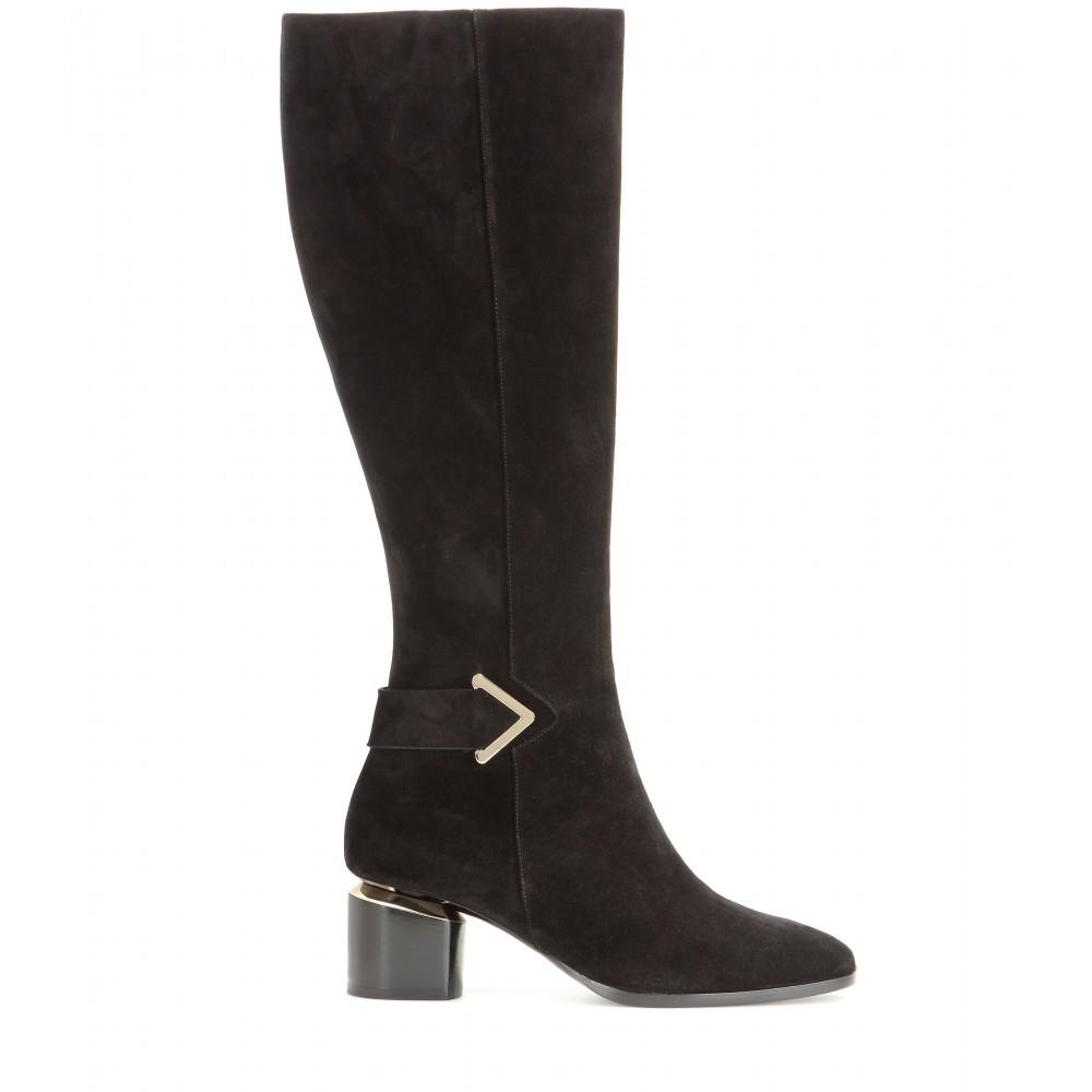 nicholas kirkwood brannagh suede knee high boots in black