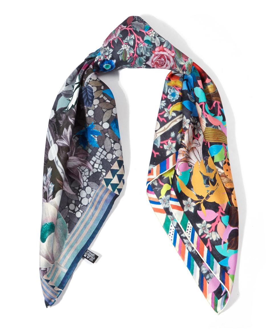 christian lacroix turquoise les 4 saisons scarf in blue lyst