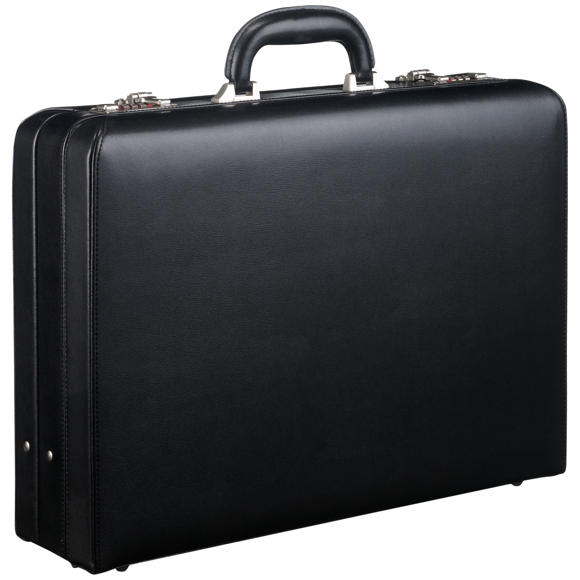 John Lewis Chicago Attache Leather Briefcase In Black For