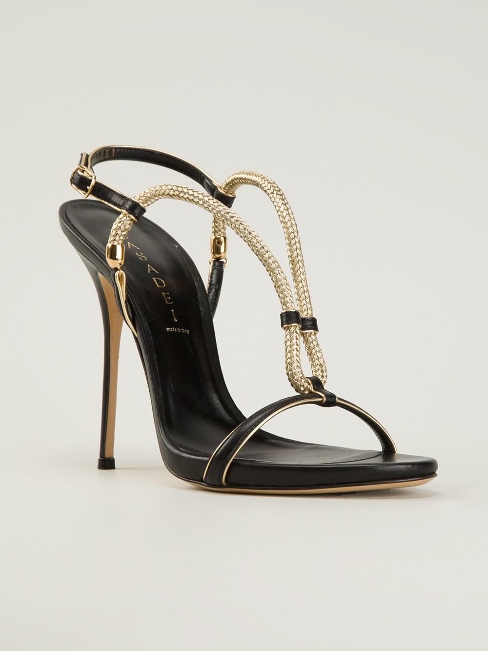 Casadei Stiletto Sandals In Black Lyst