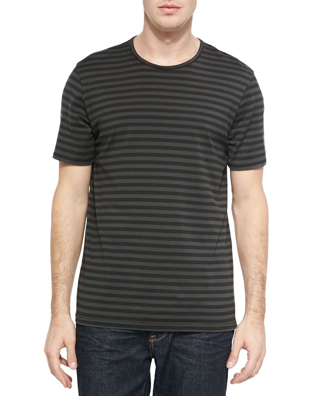 Rag Bone Striped Flame Jersey T Shirt In Gray For Men