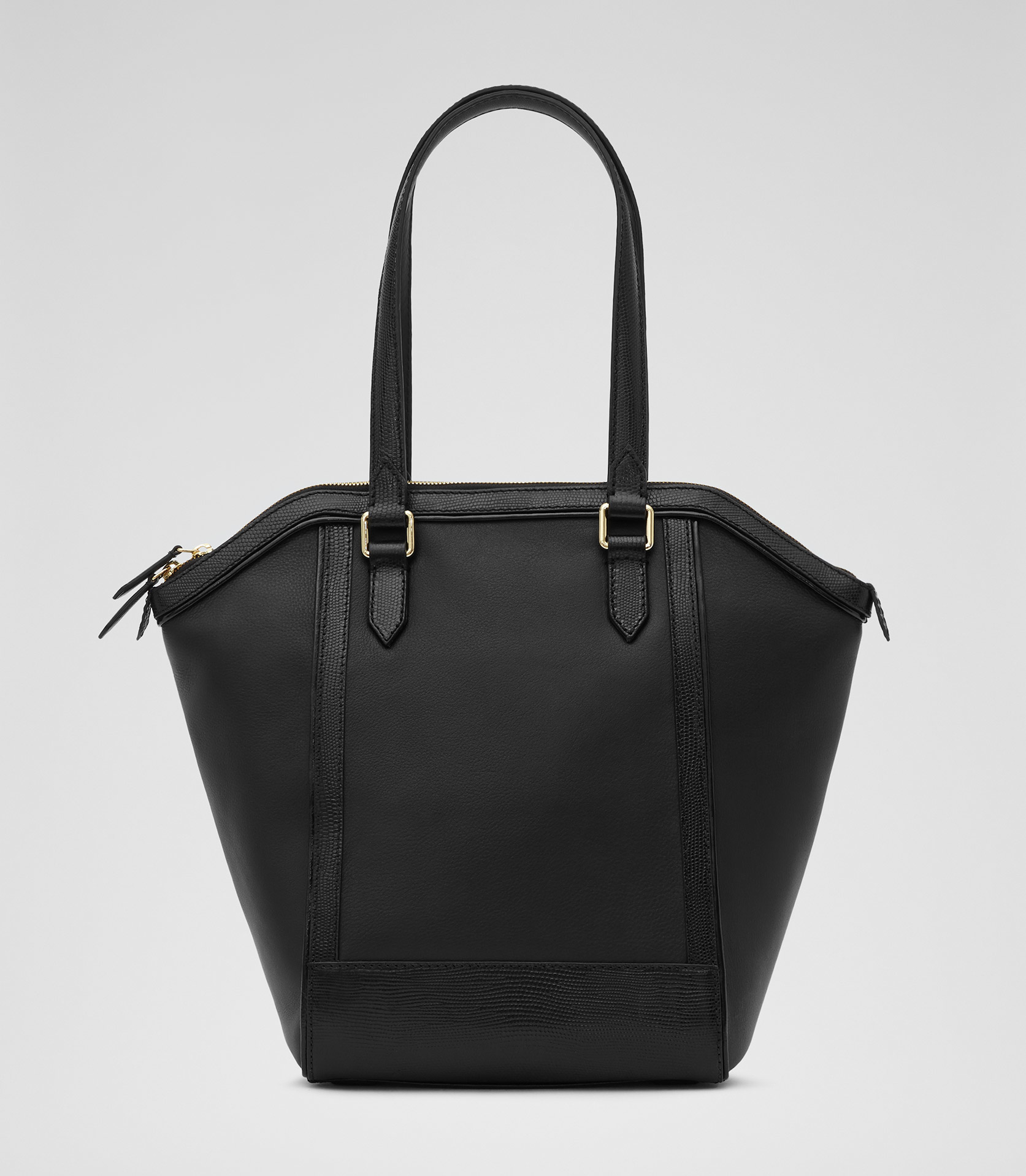 Reiss Marlo Structured Black Tote