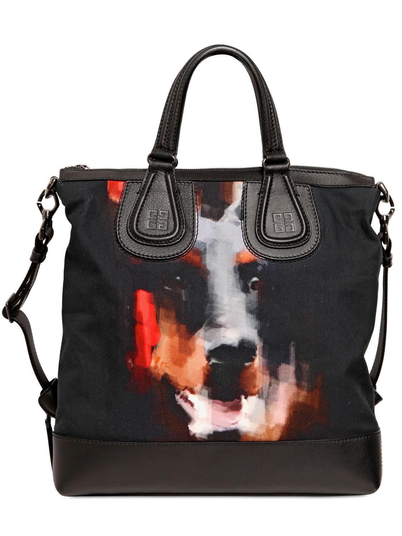 3fa1e2c1e004 Givenchy Dobermann Canvas   Leather Biker Bag in Black for Men - Lyst