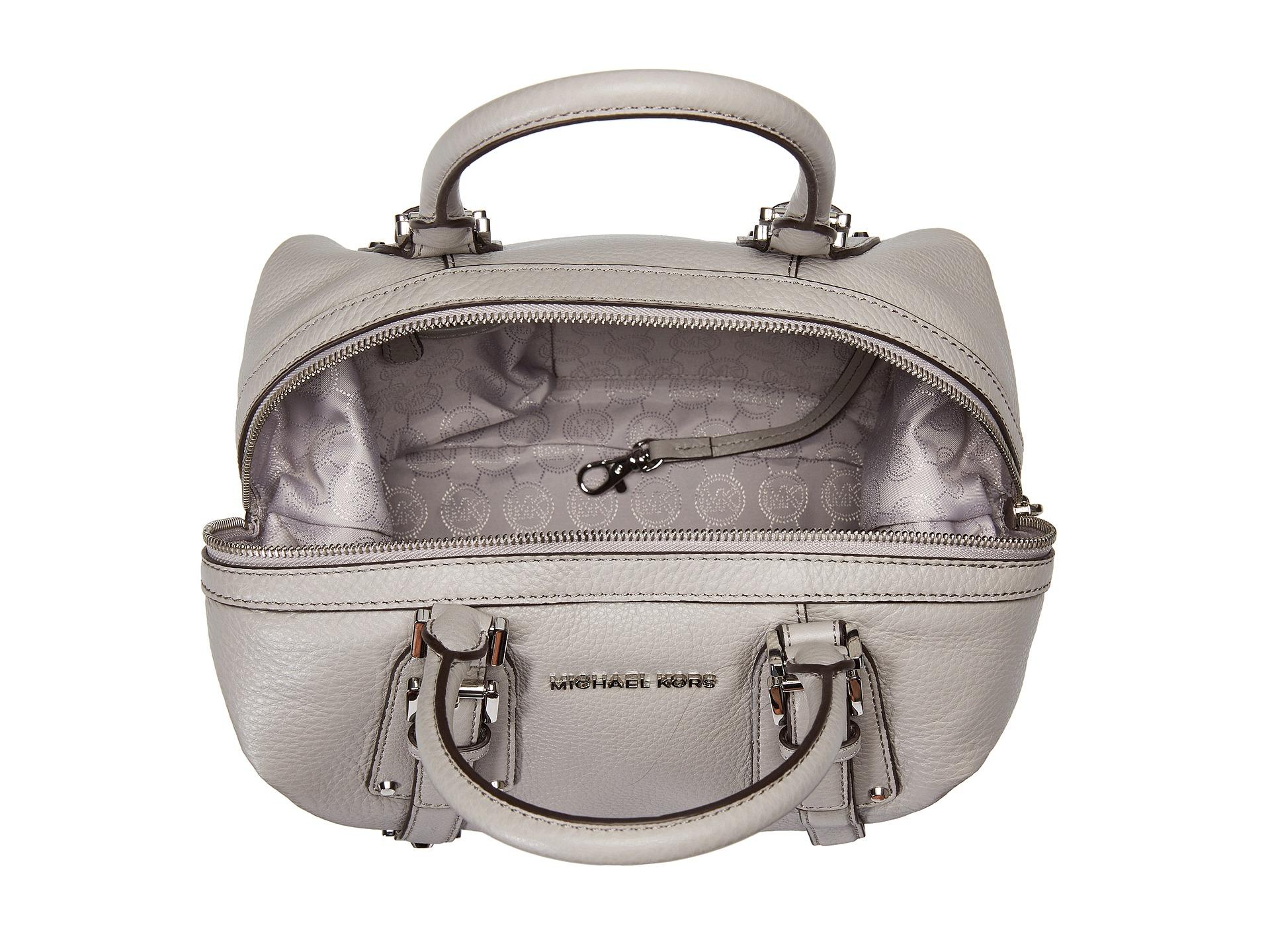 9a98bdb2b355 ... order lyst michael michael kors bedford belted medium satchel in gray  3ed0b 43498 ...