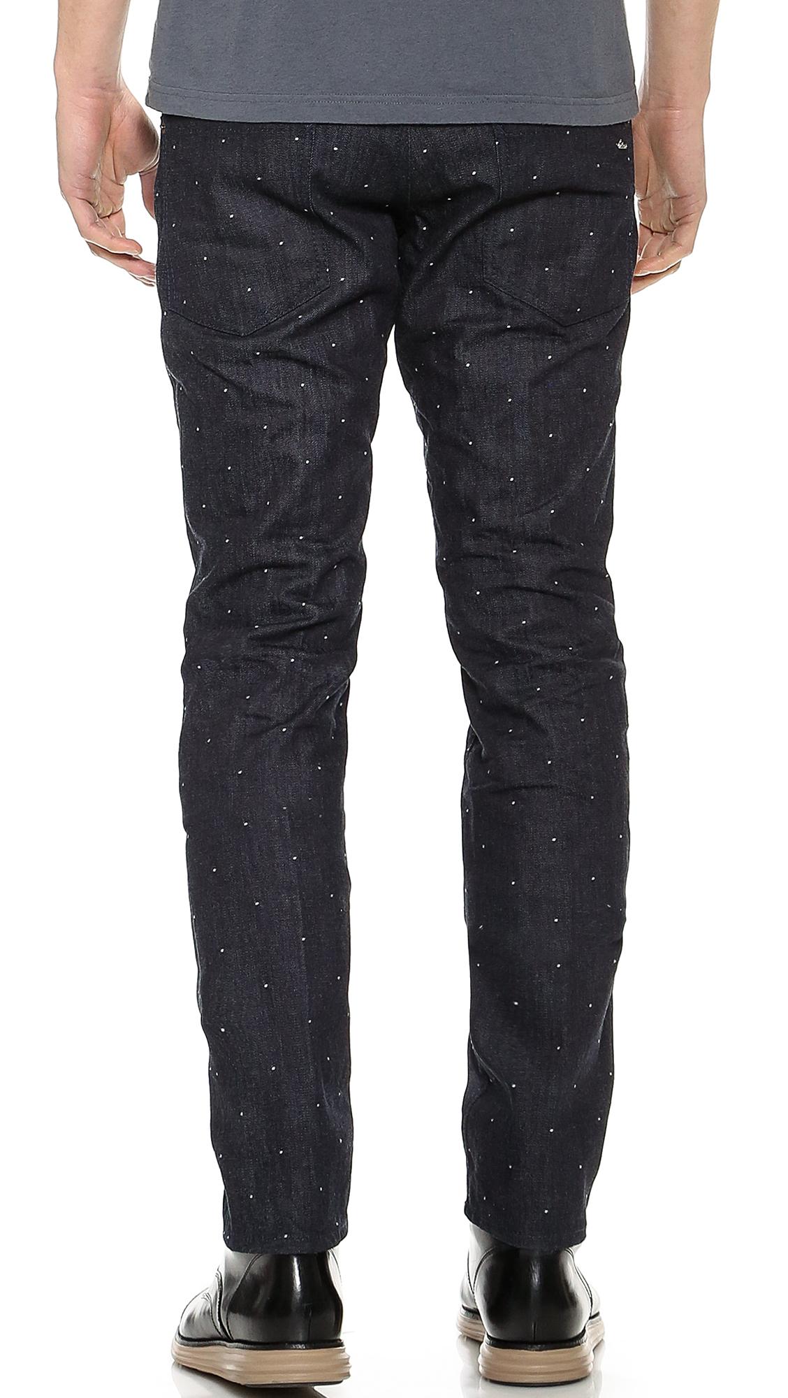 DSquared² Dot Wash Slim Fit Jeans in Blue for Men