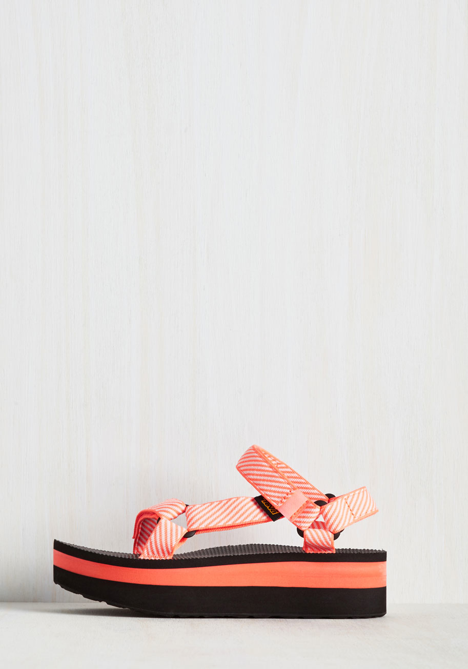 b3108b300f5 Lyst - Teva I Wanna Walk With You Sandal In Neon Coral in Red