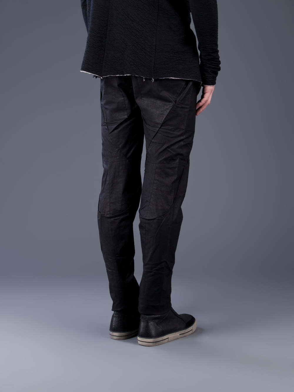 Inaisce Paneled Trouser in Black for Men