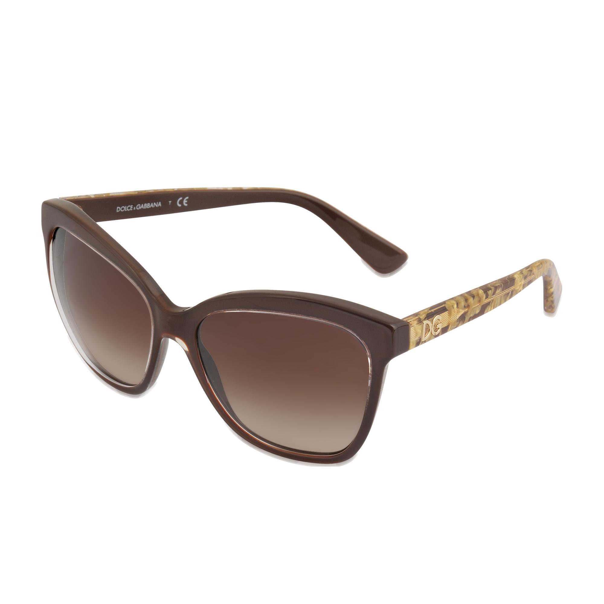 Dolce   Gabbana Butterfly Sunglasses Brown  271466d32810f