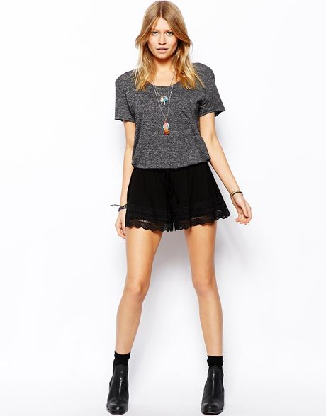 Lace Hem Shorts Shorts With Lace Hem in