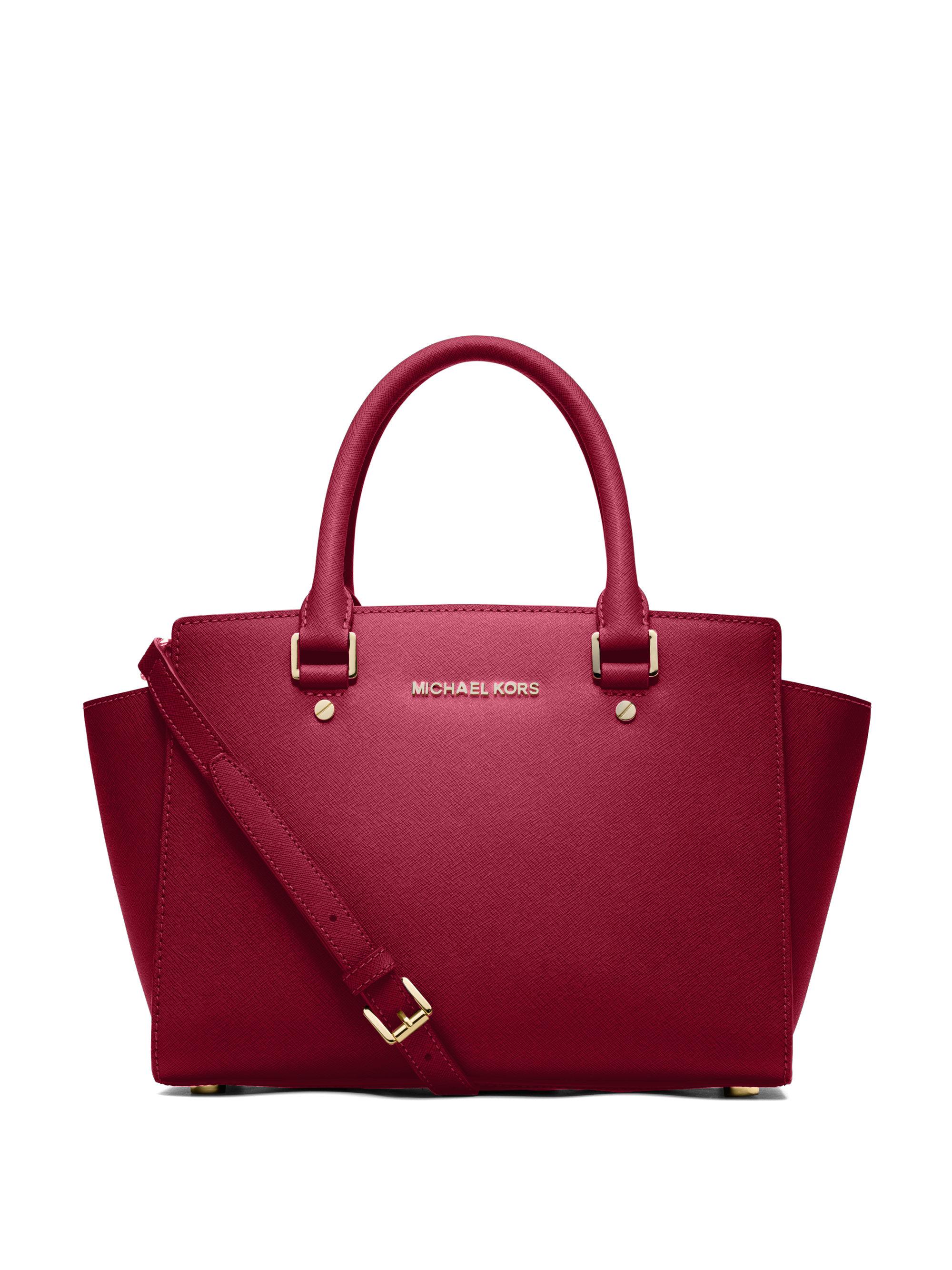 c4fa5e721754 ... new zealand lyst michael michael kors selma medium saffiano leather  satchel in red f84c3 0033b