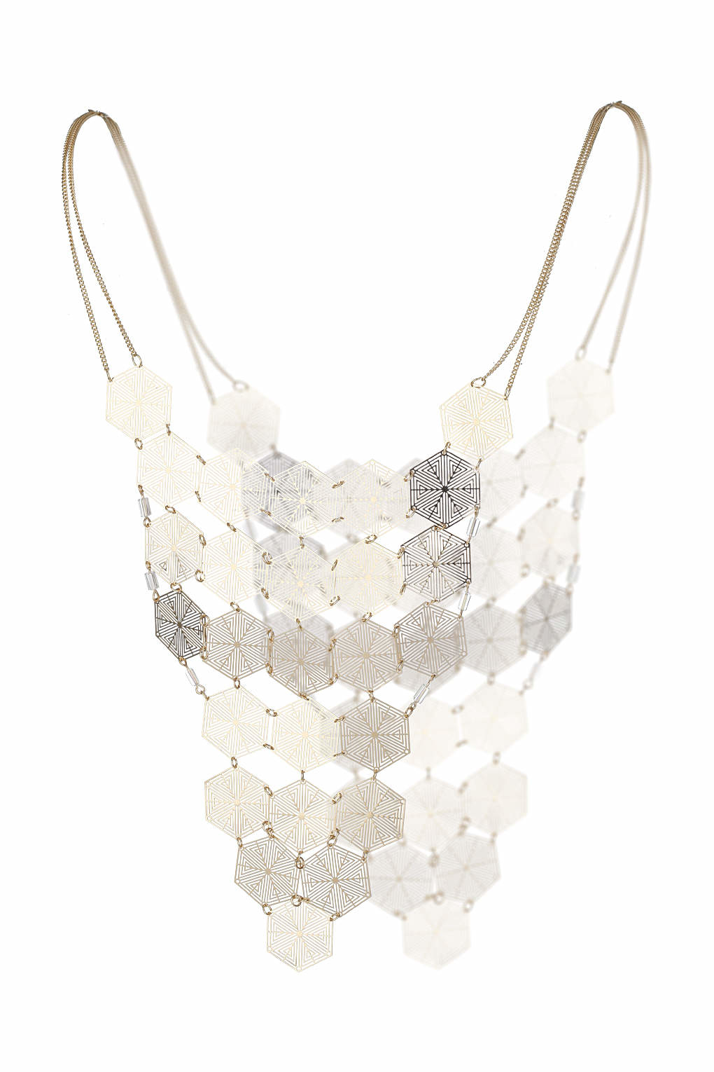 Topshop Pretty Filigree Front And Back Necklace Lyst