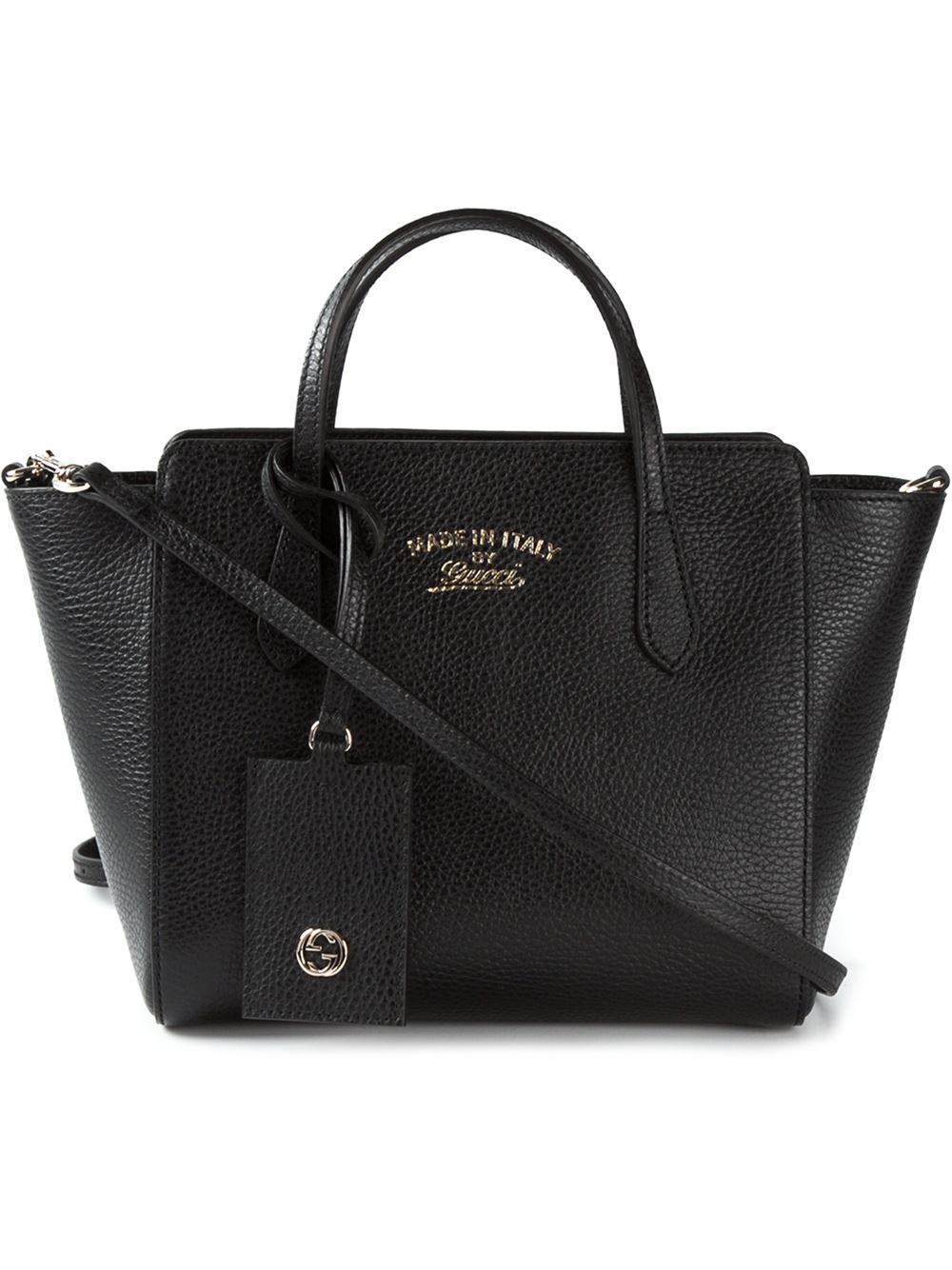 2102fa752b48ac Gucci Mini 'swing' Tote in Black - Lyst