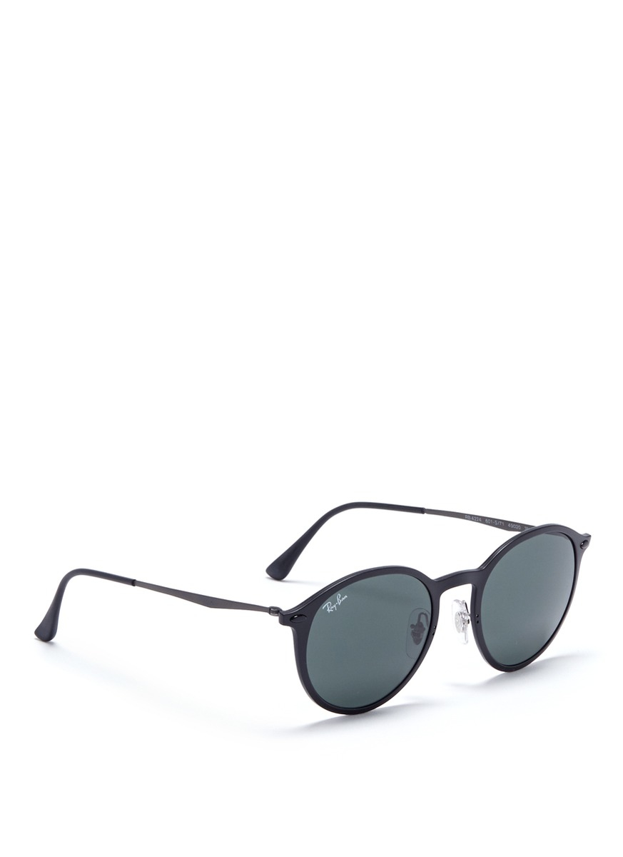 d7d1efe7c7d Lyst - Ray-Ban  rb4224 Light Ray  Titanium Temple Round Sunglasses ...