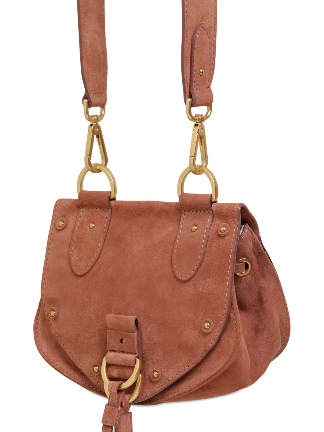 3429d632 See By Chloé Red Mini Suede Shoulder Bag