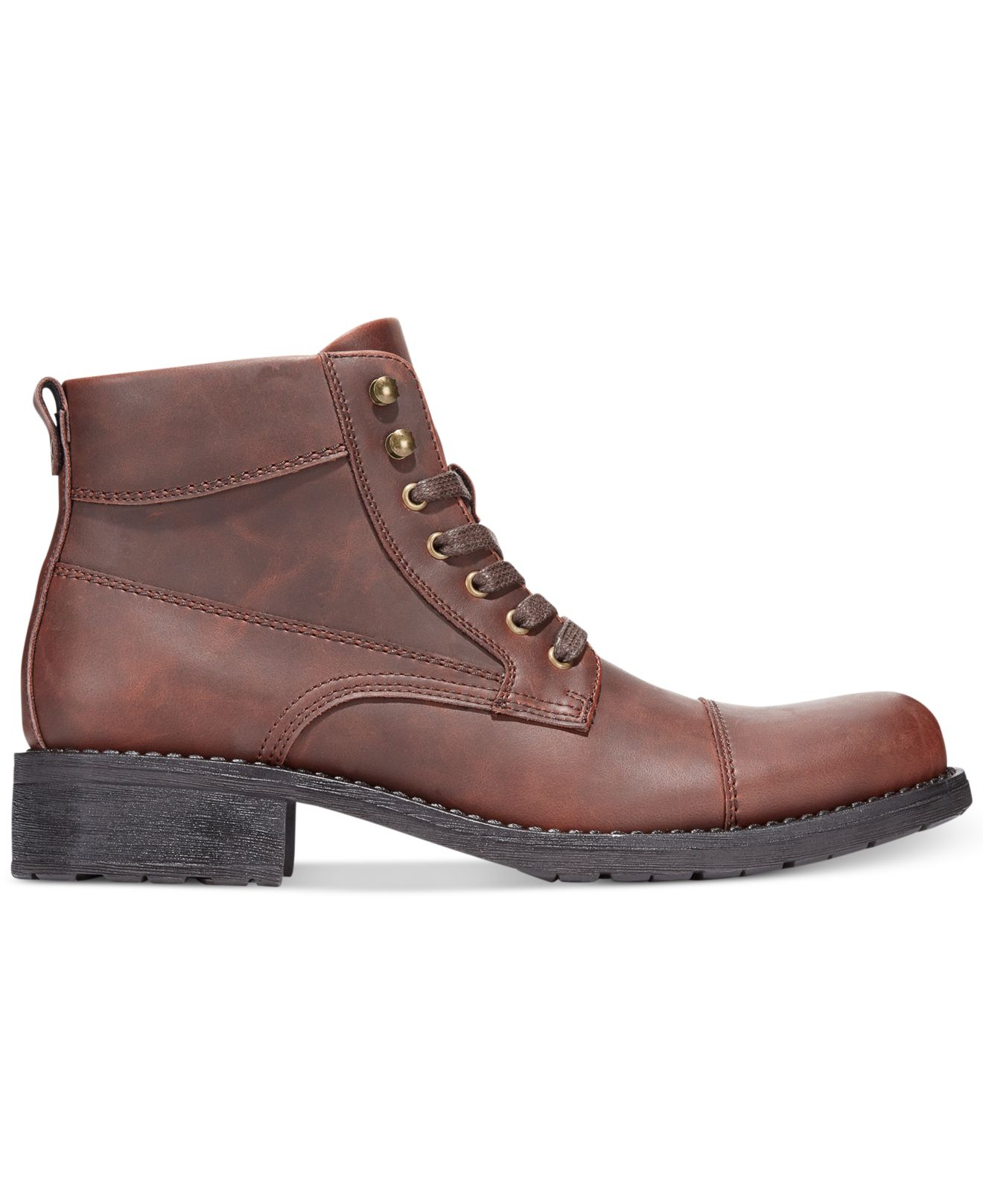 alfani s dean utility boots in brown for save 26