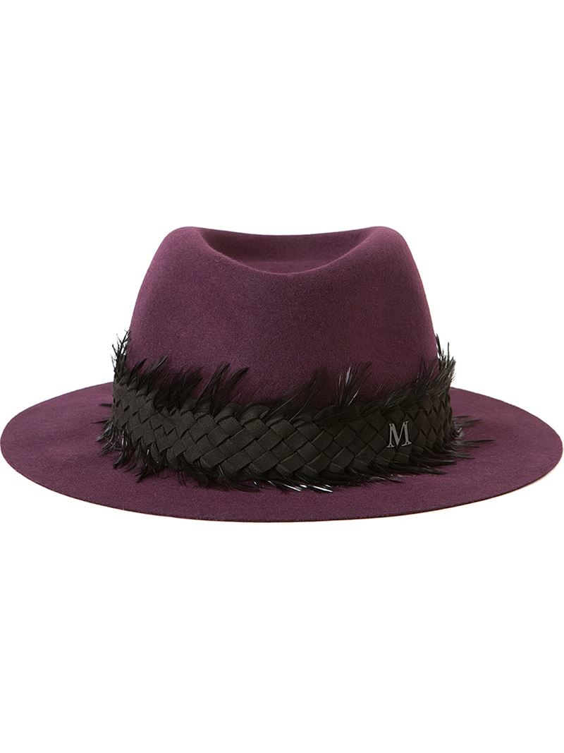 Maison michel 39 andre 39 hat in pink lyst for Maison michel