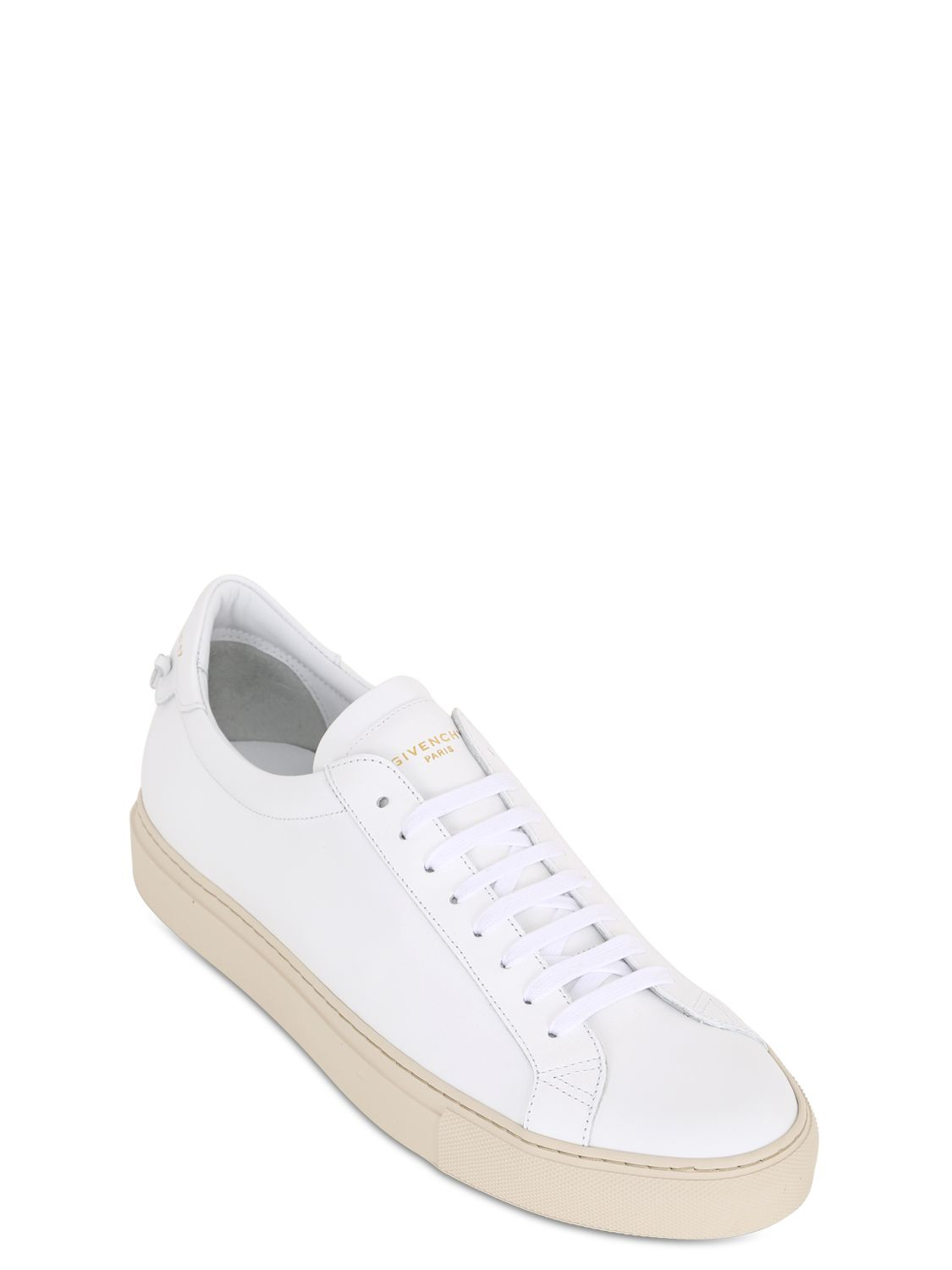 Lyst Givenchy Urban Street Leather Tennis Sneakers In White