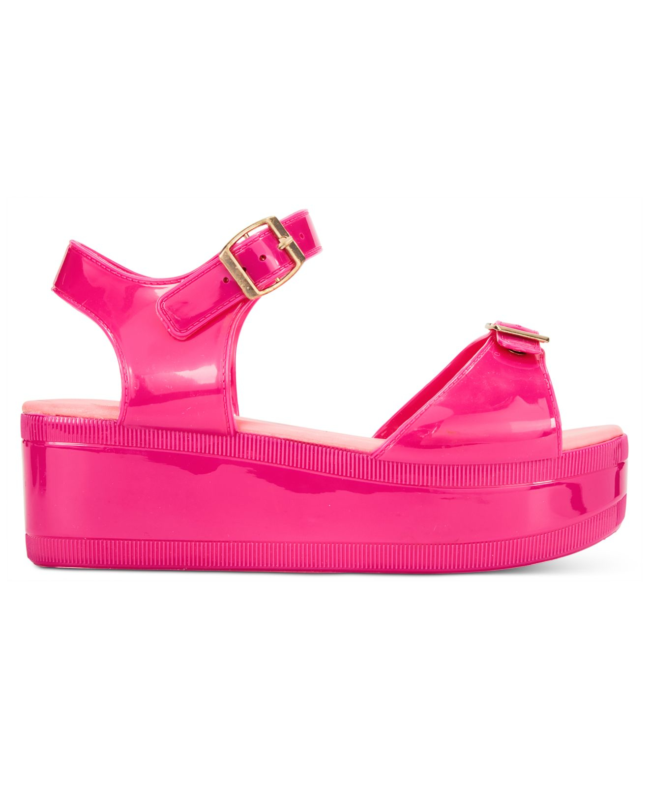 fc3e1404a53 Lyst - Wanted Gumdrop Flatform Jelly Sandals in Pink