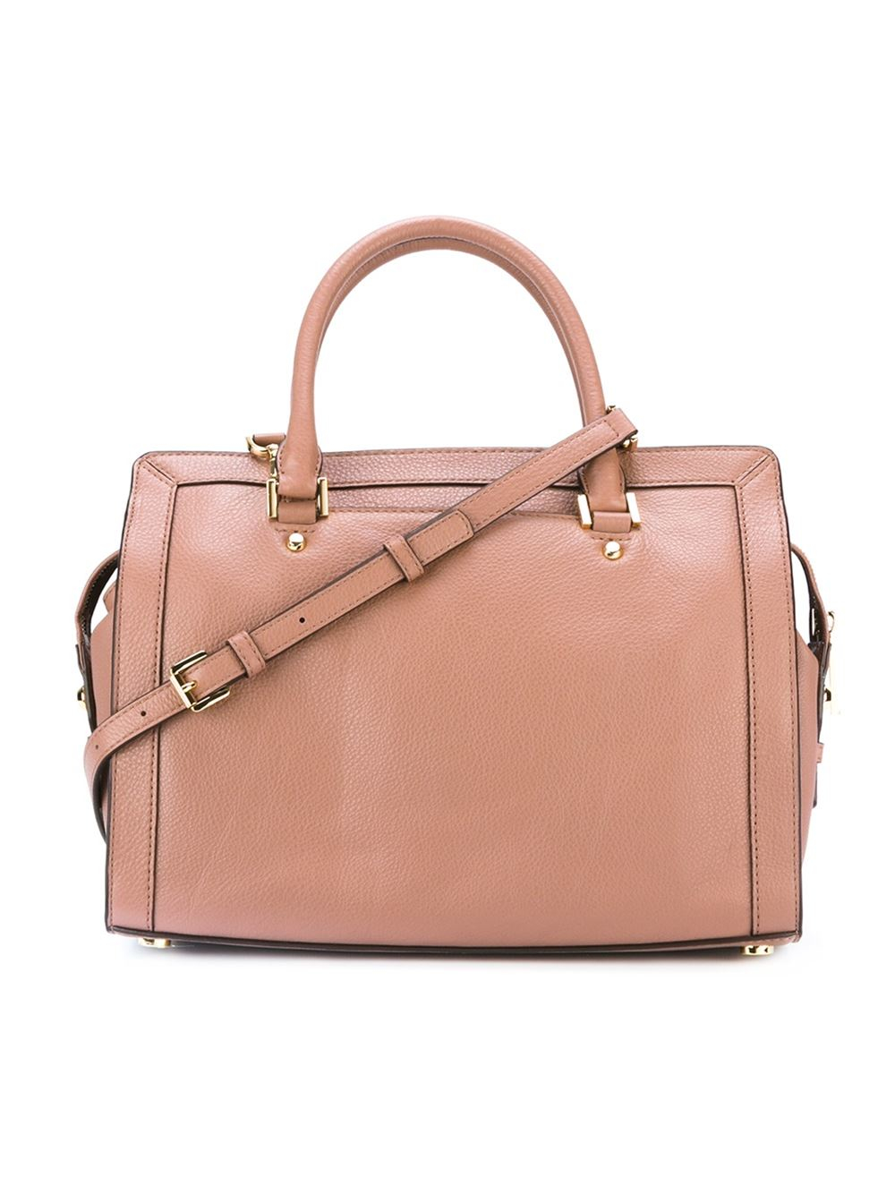 MICHAEL Michael Kors Leather 'collins' Tote in Pink & Purple (Pink)