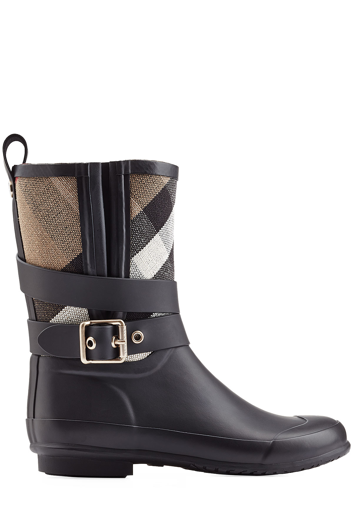 burberry holloway rubber rain boots black in black lyst