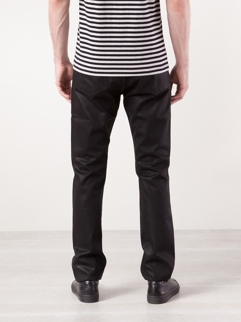 Rag & Bone Coated Jeans in Black for Men - Lyst