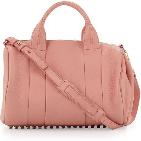 alexander wang rocco studbottom satchel bag nectar in pink. Black Bedroom Furniture Sets. Home Design Ideas