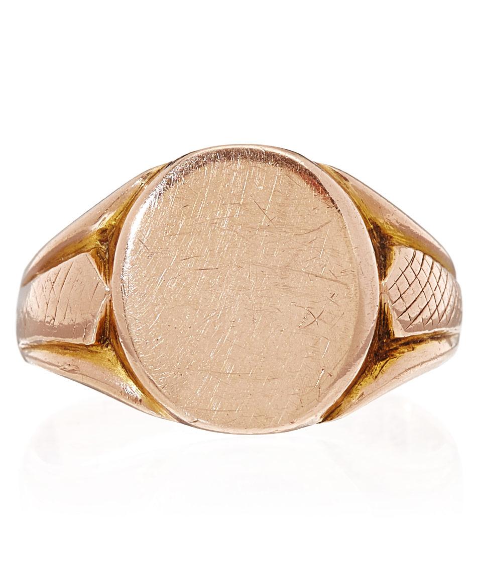 b8bd72d02dffe Annina Vogel Pink Rose Gold Antique Signet Ring