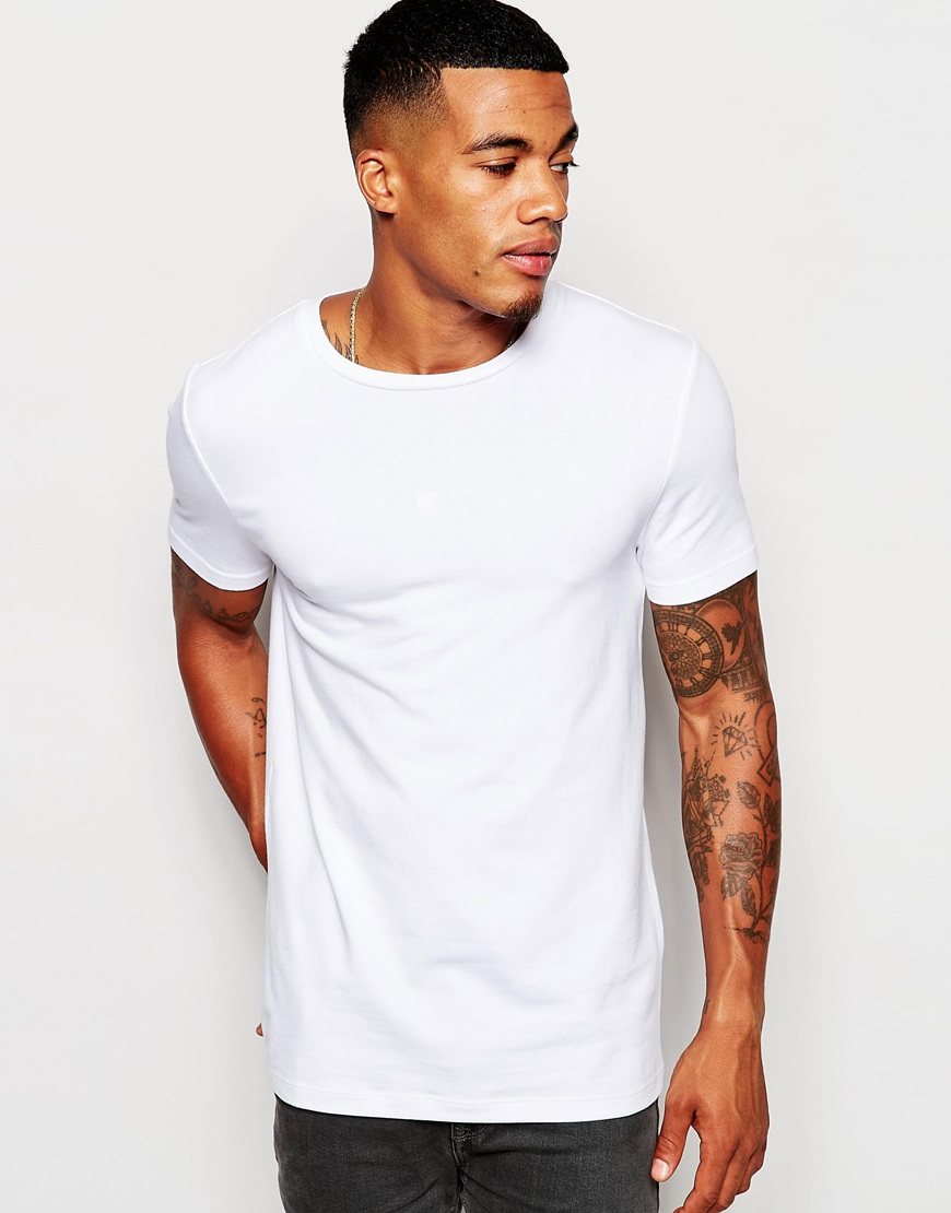 Asos muscle fit t shirt with crew neck and stretch in for What is a fitted t shirt