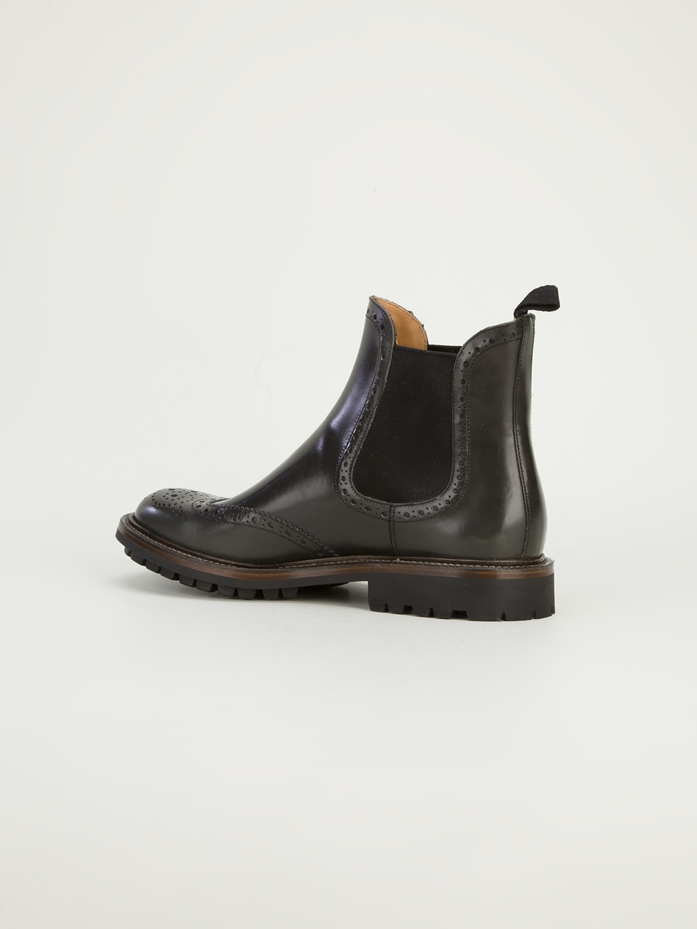 Church's Brogue Chelsea Boot in Black