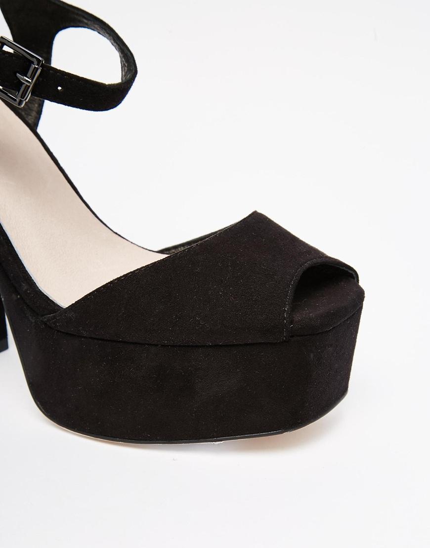 9919591f174 Lyst - Faith Lauper Black Platform Sandals in Black