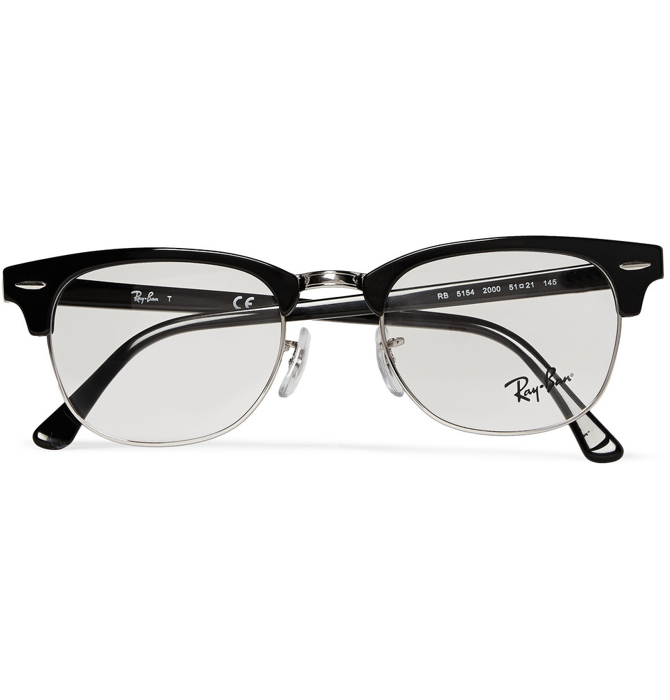 14a00398eb7 Ray-Ban Clubmaster Acetate And Metal Optical Glasses in Black for ...