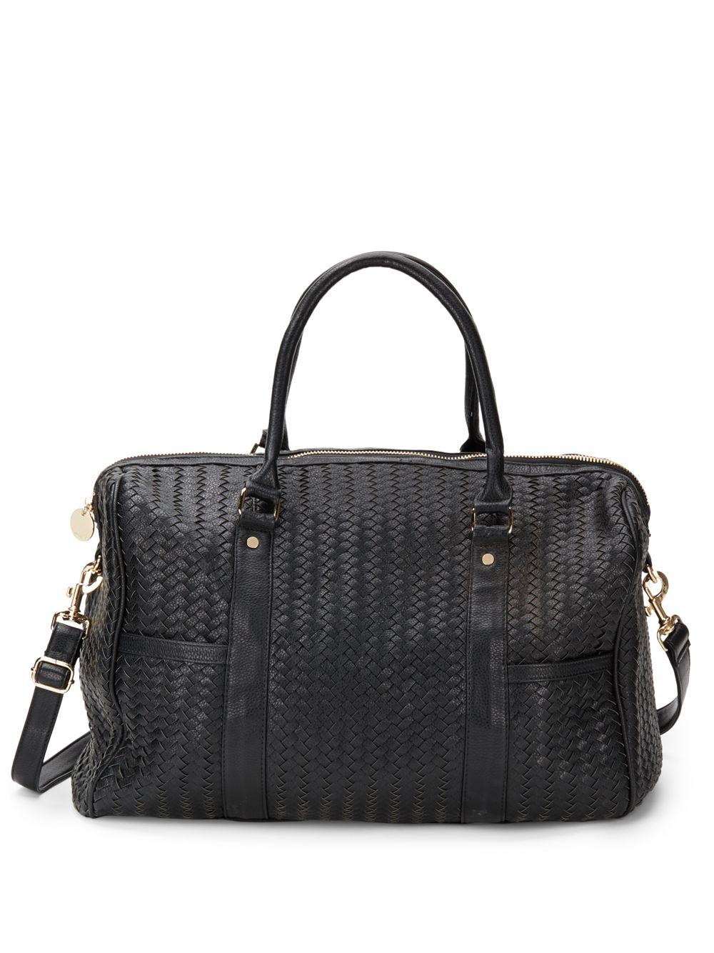 Deux Lux Gramercy Woven Weekender Bag In Black Lyst