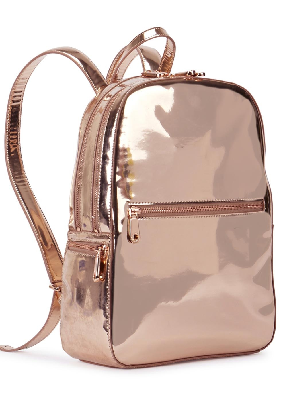 Dkny Rose Gold Leather Backpack in Pink | Lyst : dkny quilted rucksack - Adamdwight.com