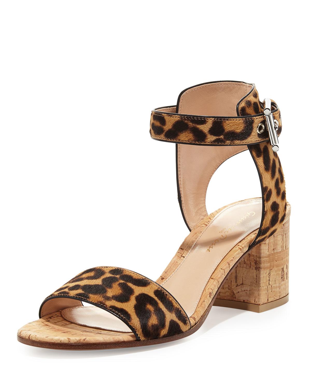6e01e4d503b2 Lyst - Gianvito Rossi Leopard-print Calf-hair City Sandal