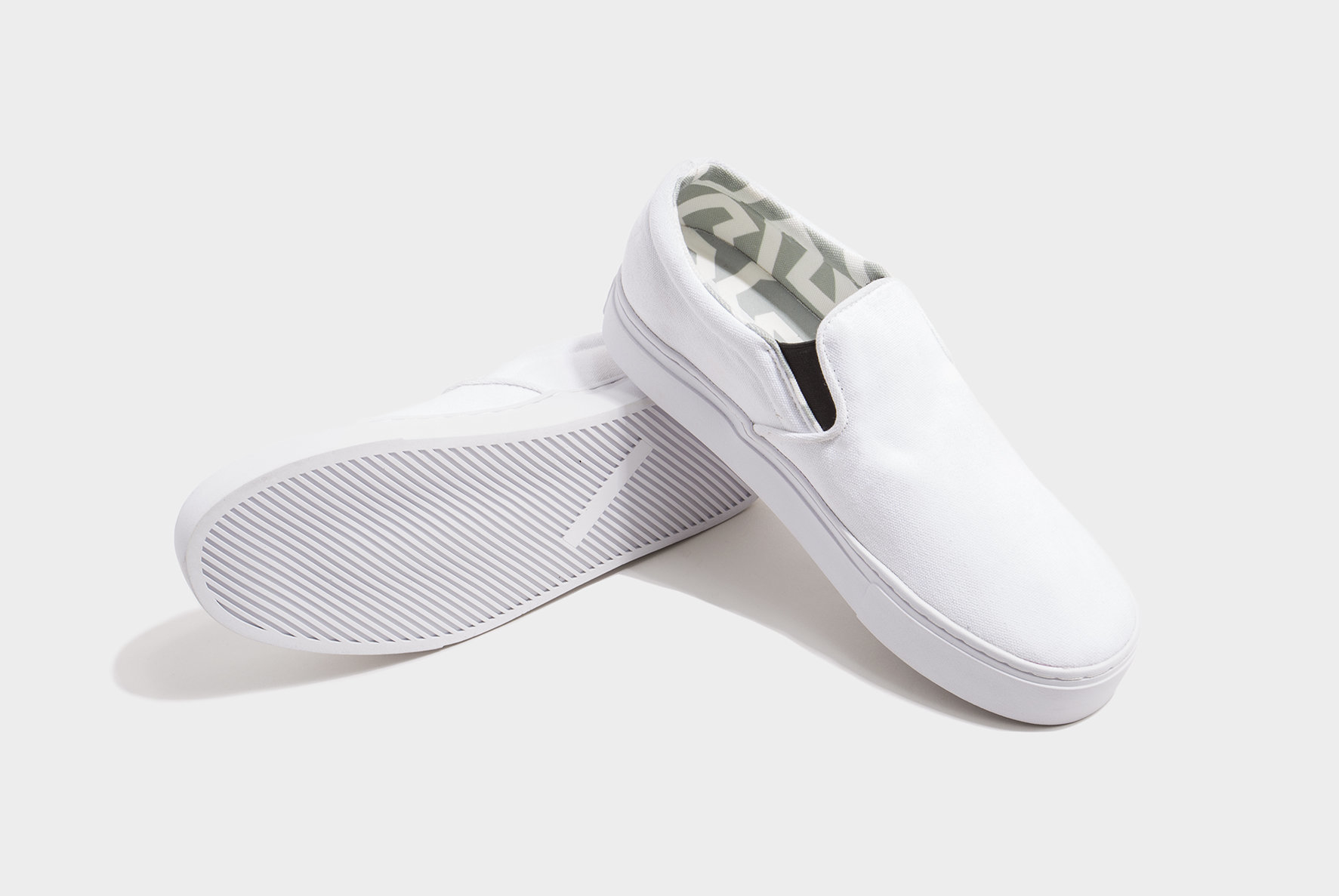 Saturdays Nyc Vass Canvas Slip On Shoes In White For Men
