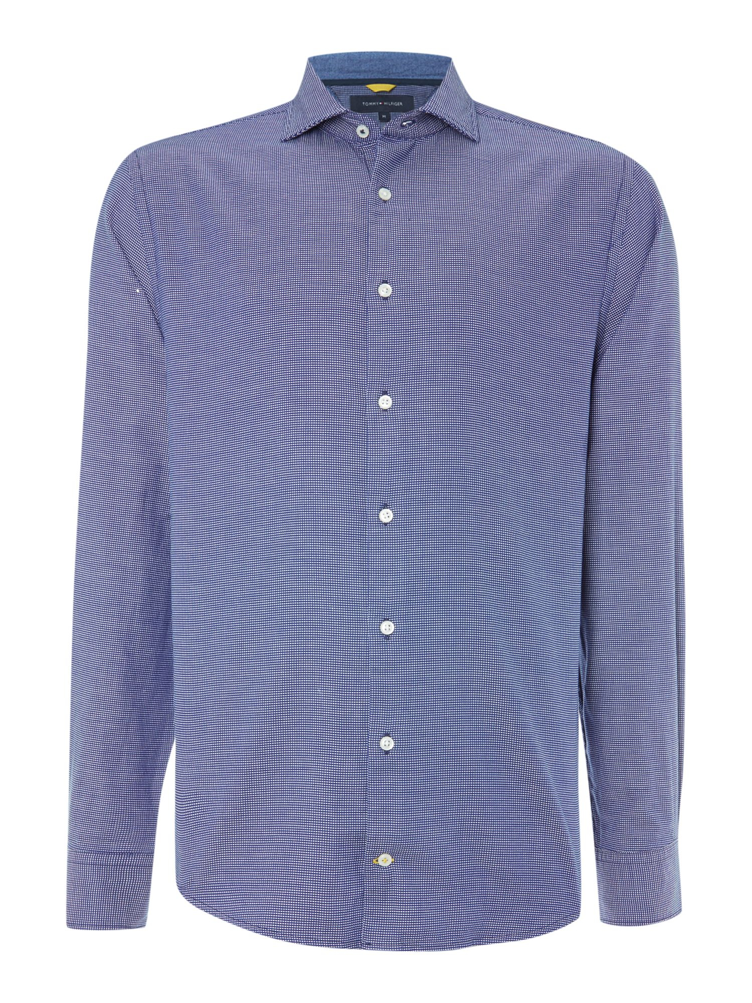 Lyst tommy hilfiger new york check shirt in blue for men for Custom t shirts long island ny