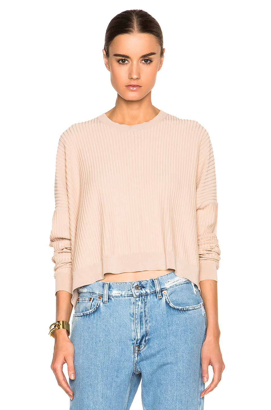 Acne studios Issy Rib Sweater in Pink | Lyst