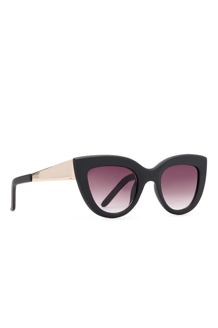 609b25131b7 Forever 21 Matte Cat-eye Sunglasses in Black