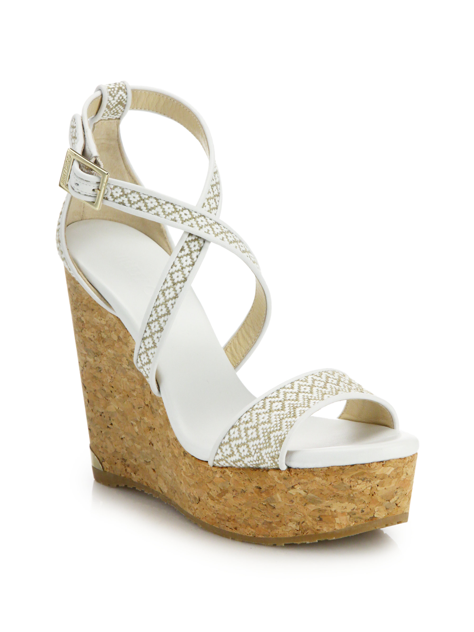 Jimmy Choo Woven Platform Wedge Sandals low price sale online cheap sale visa payment cheap sale many kinds of cheap sale prices 1t7CCR03