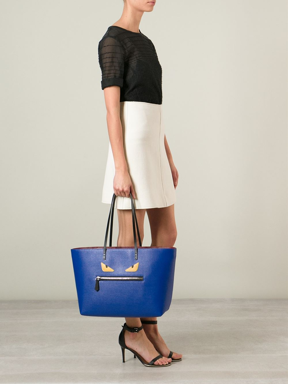 ce1ed879292d Fendi Bag Bugs  Roll  Tote Bag in Blue - Lyst