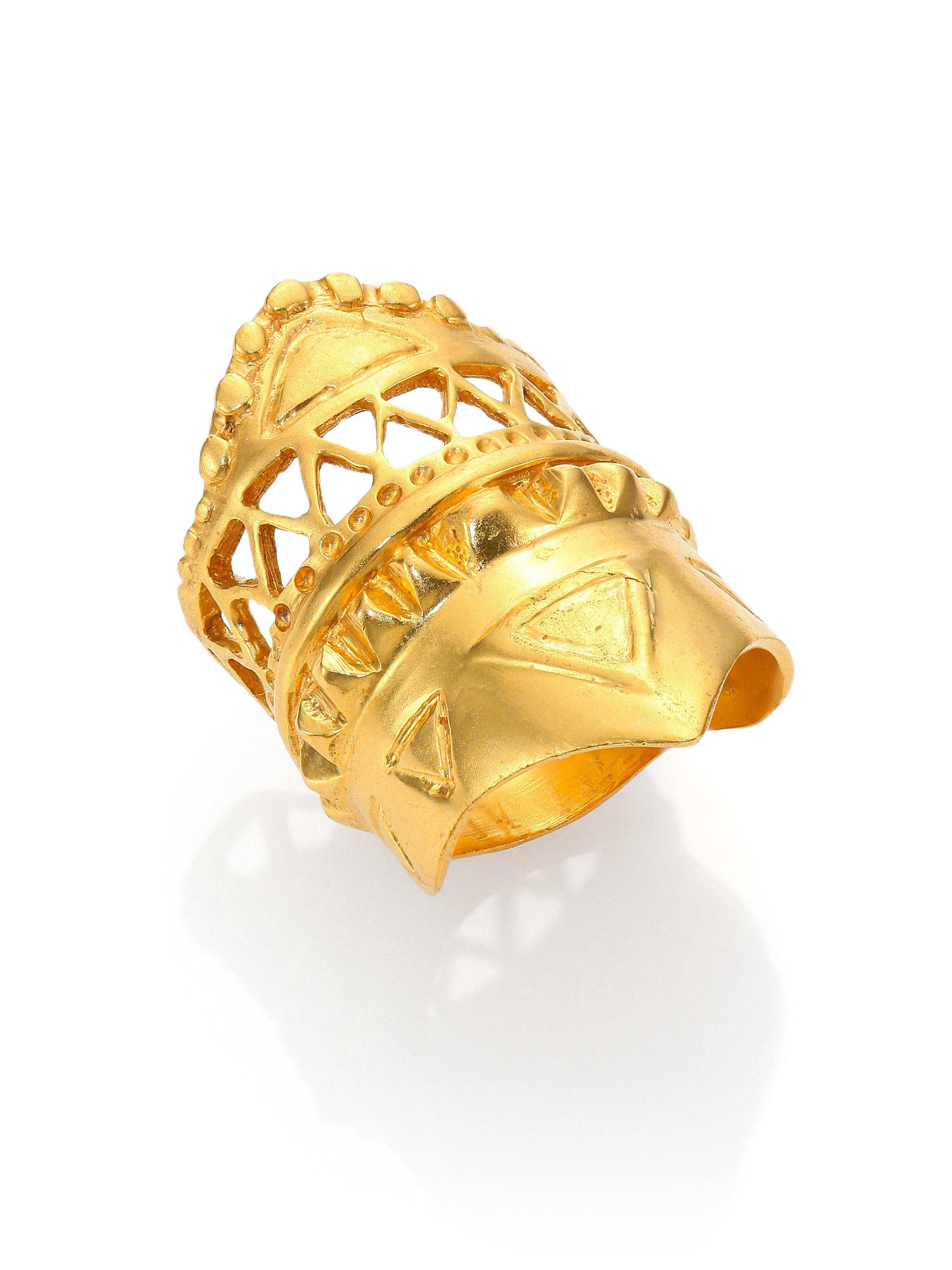 Lyst a peace treaty bedia ring in metallic